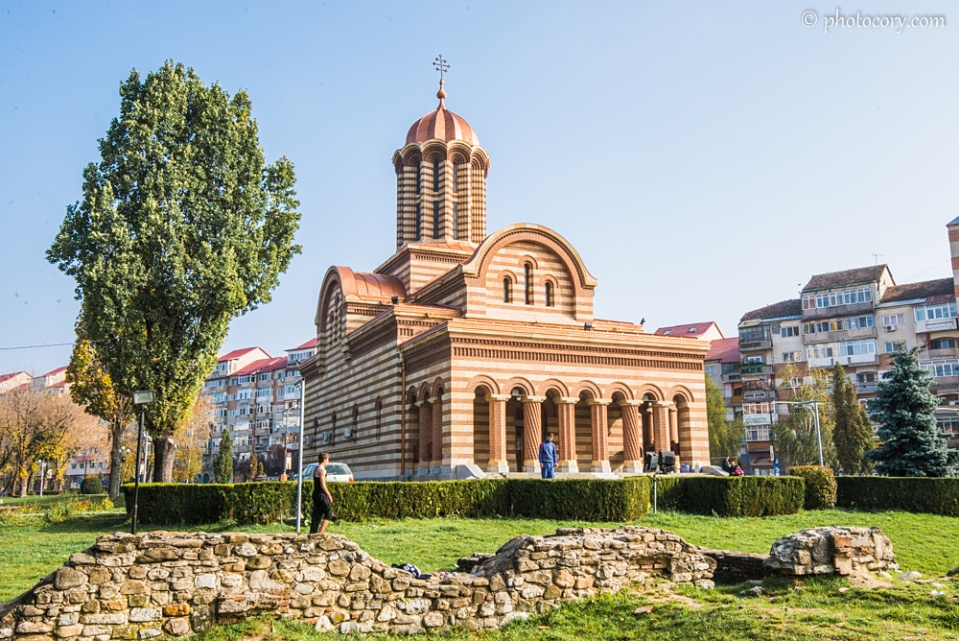 The same orthodox cathedral, in Central Park Targoviste