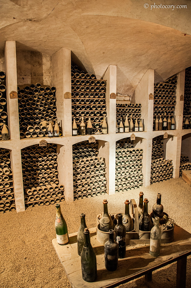 Any respectable chateau has a large wine cellar