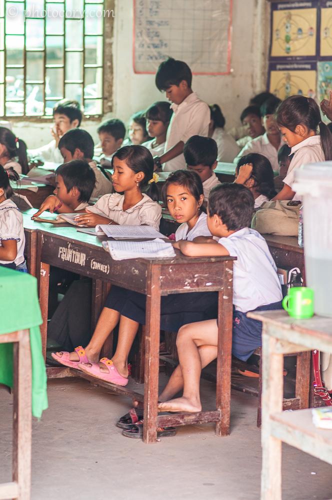 at school in Siem Reap