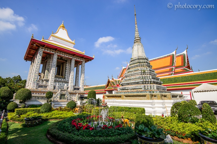 at wat arun complex in bangkok