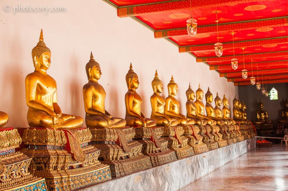 many Buddha statues