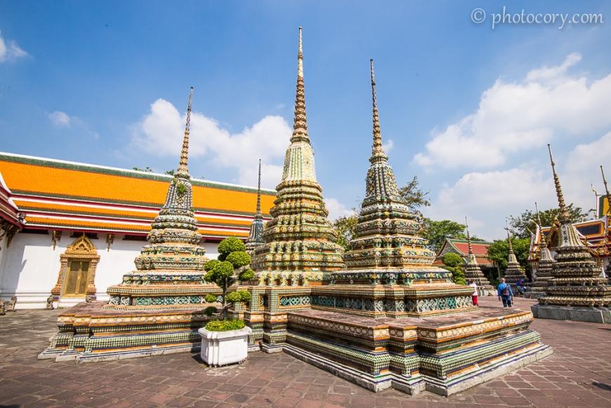 Chedis (Stupas) at Wat Pho