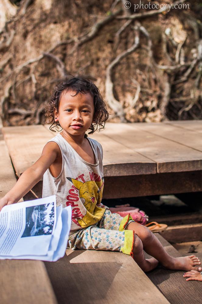 child in Cambodia