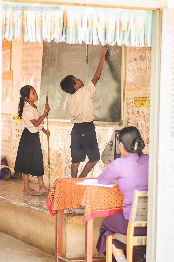 children at school in Siem Reap