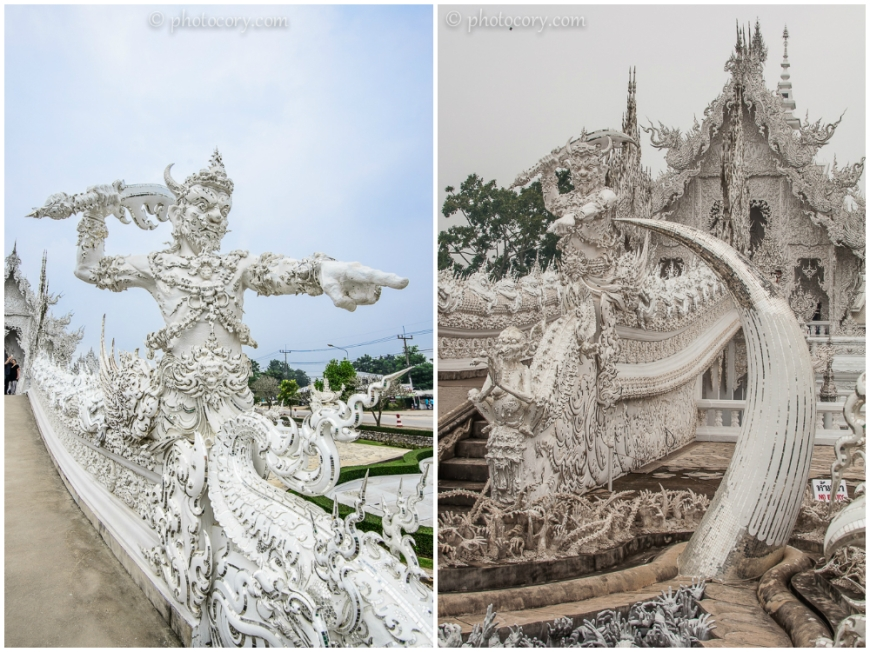 Demons guarding the entrance at the White Temple