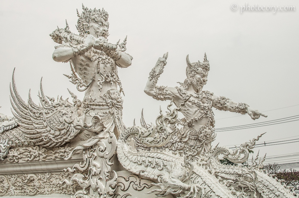 Demon guards in front of the White Temple