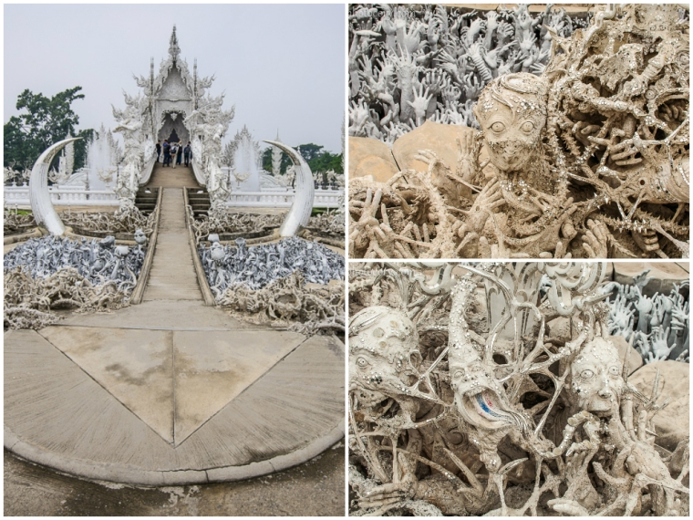 Details of the chaos and horror in front of the White Temple