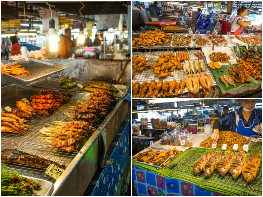 Yummy food at local market in Chiang Mai/Mancare in piata din Chiang Mai