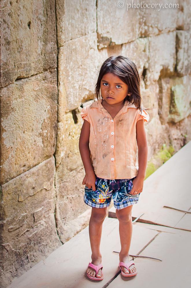 girl at angkor temples