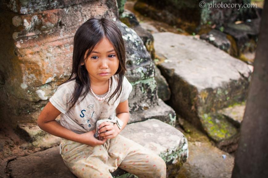 girl crying cambodia