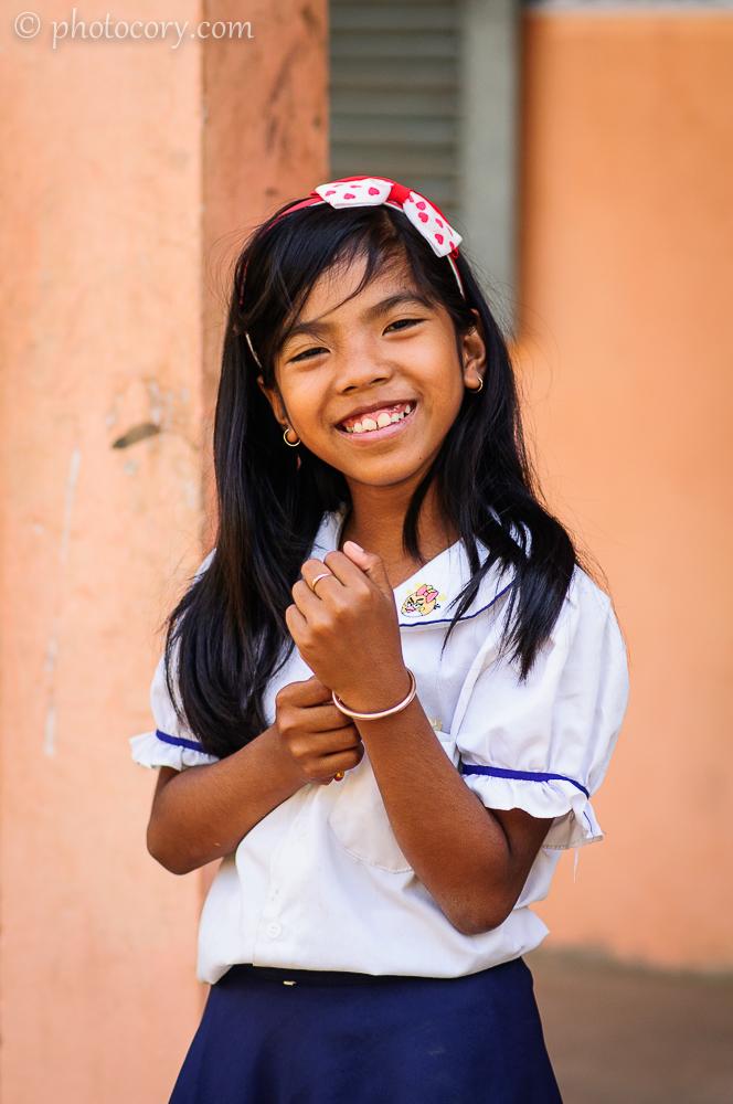 Girl Smiling Cambodia