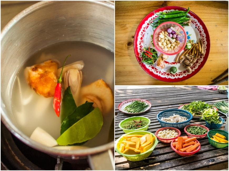 Ingredients for the first course: Tom Yam Soup / Ingrediente pentru primul fel de mancare: eu am gatit supa Tom Yam