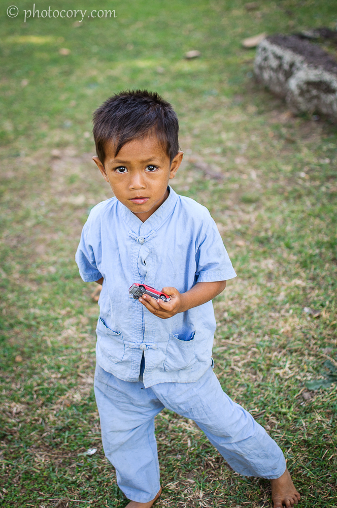little boy in Cambodia