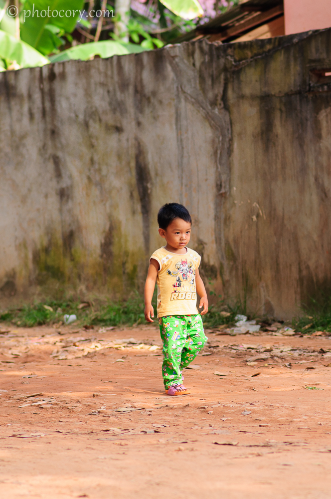 little boy on the road Cambodia