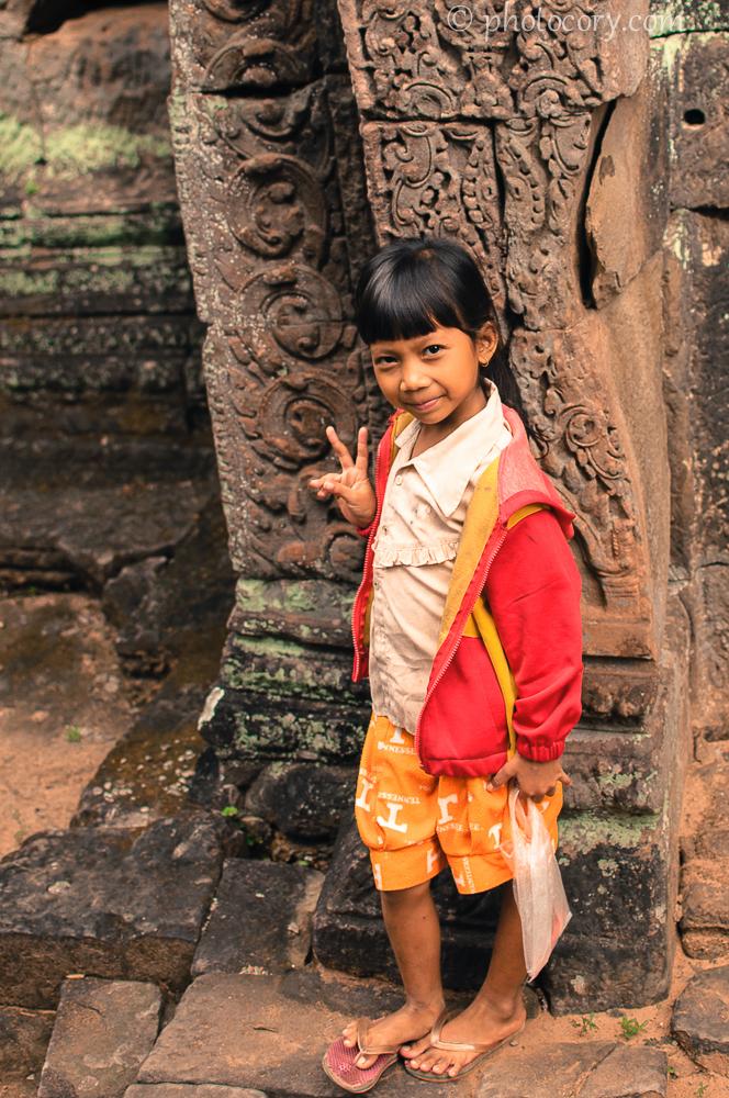 little girl in Cambodia