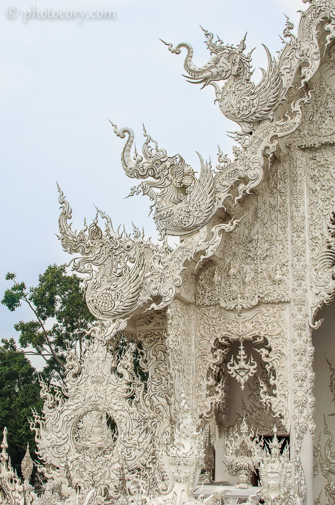 Detail of the roof of the White Temple