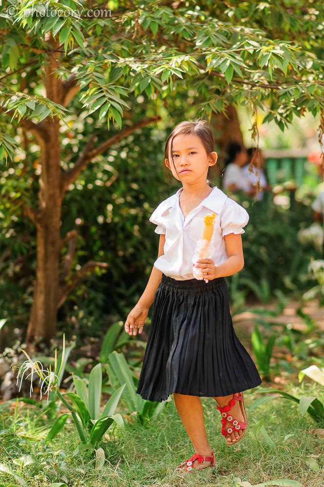 school girl Cambodia