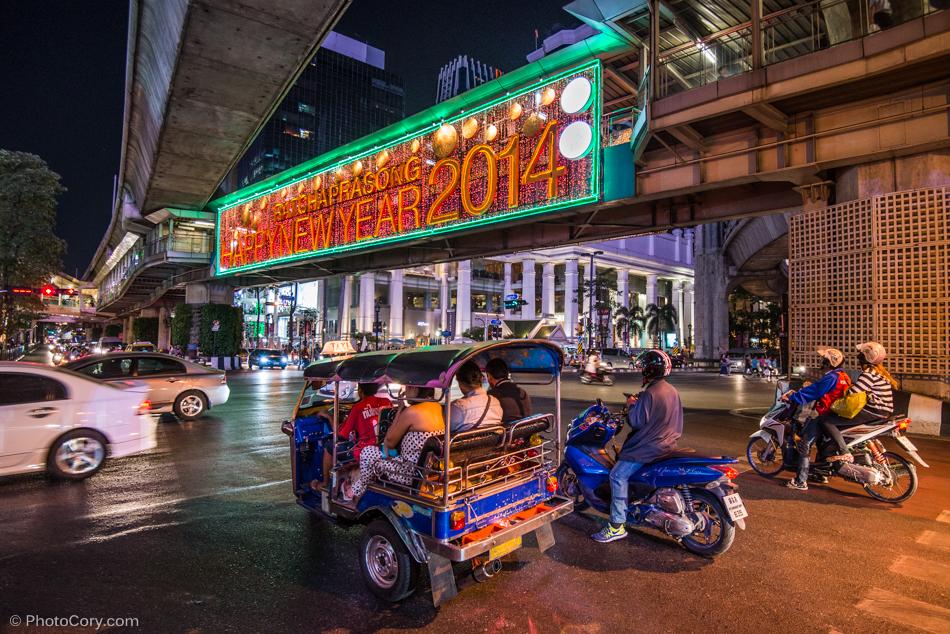 traffic night bangkok