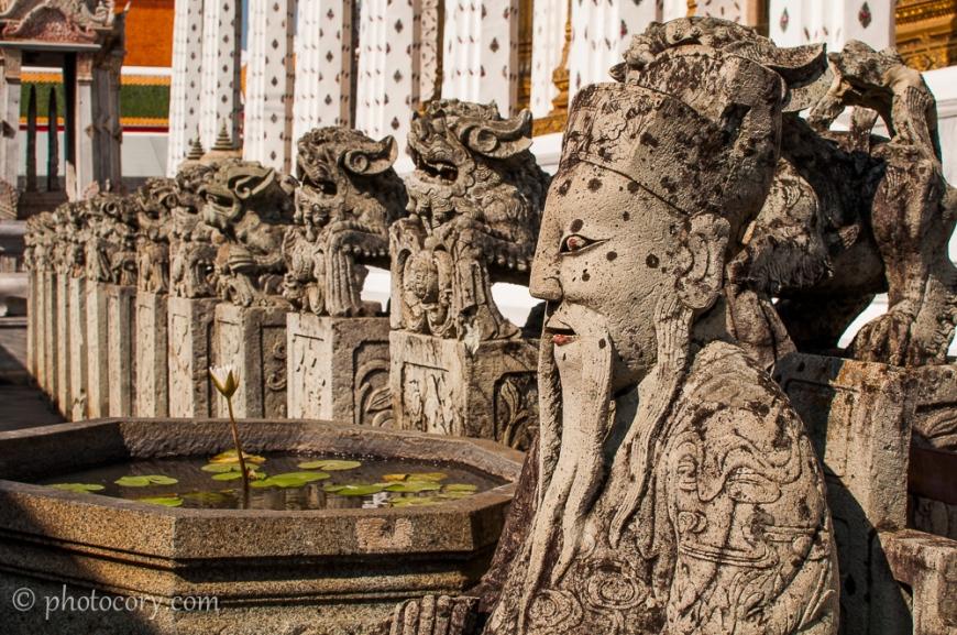 Stone sculptures in Wat Arun complex