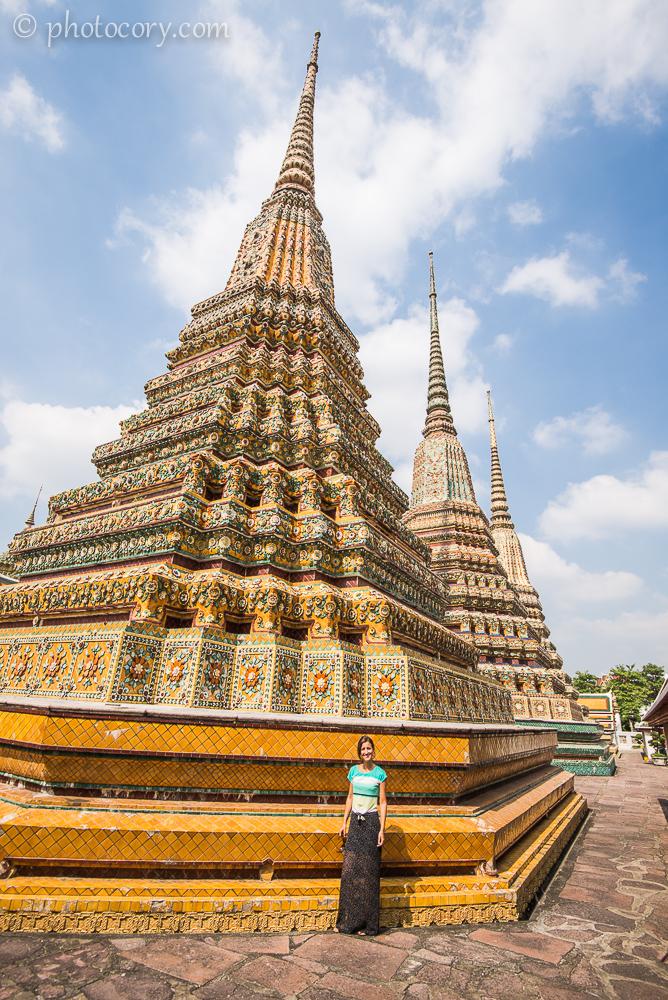 one of the many chedis at Wat Pho