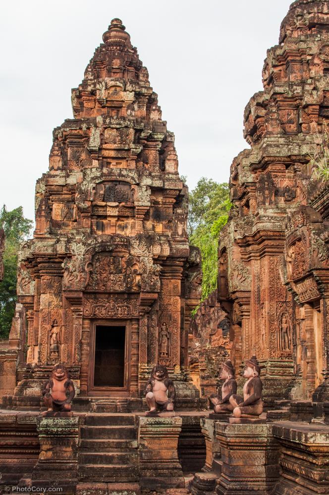 banteay srei at angkor, cambodia