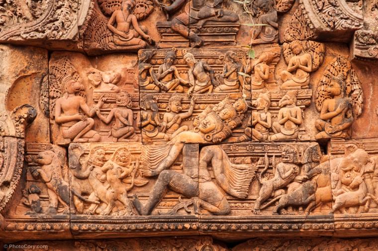 banteay srei carvings