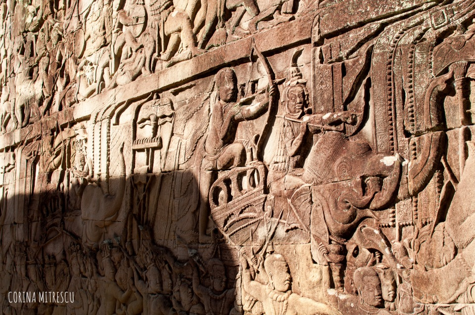 bayon detail on wall