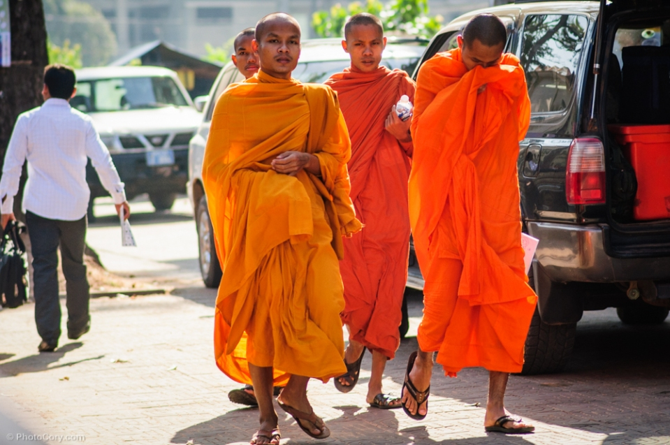 Buddhist monks in Siem Reap