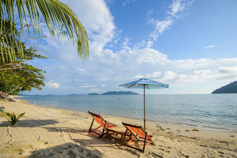chairs beach thailand