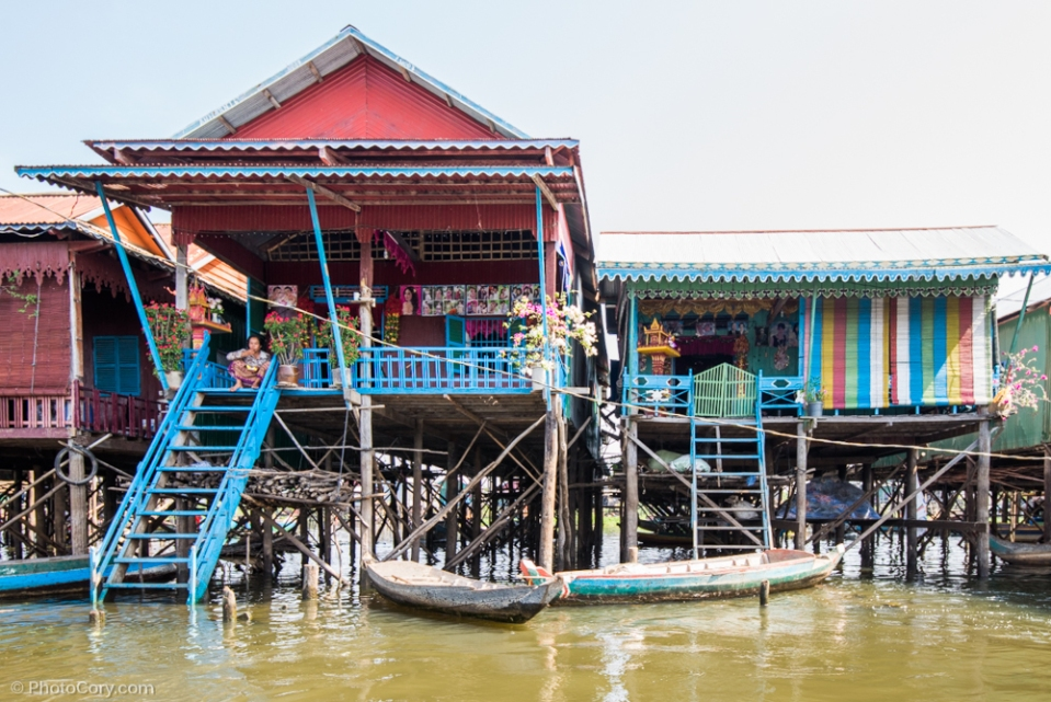 colorful houses kompong phluk
