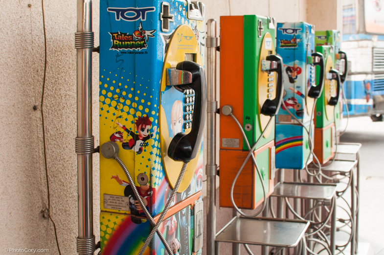 colorful telephones