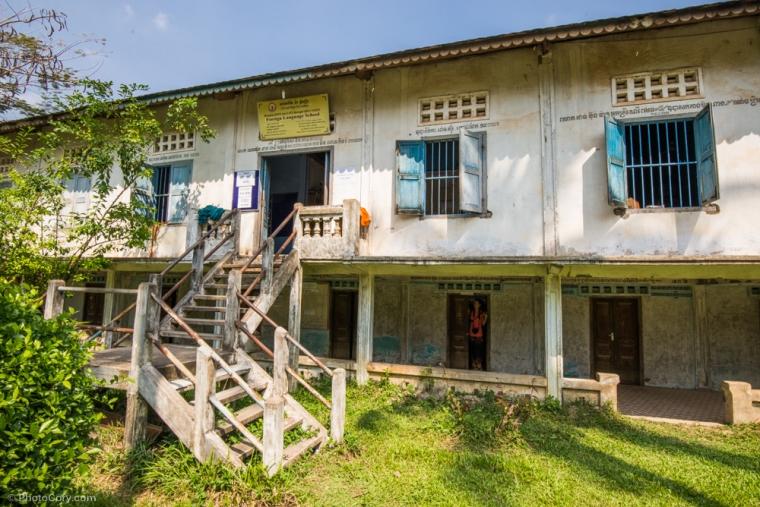 The Language school in Siem Reap/ Aceasta este scoala de limbi straine