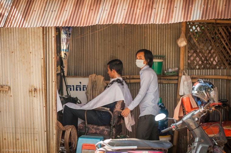 Hair dresser in Siem Reap / Frizer in Siem Reap