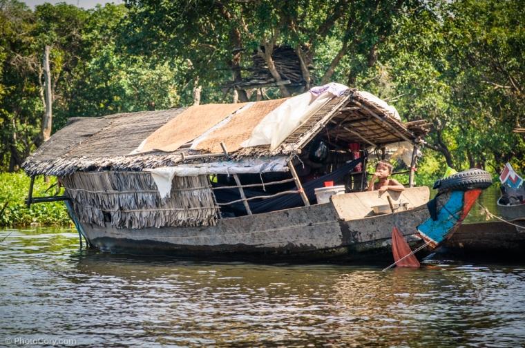 house on boat Kompong phluk