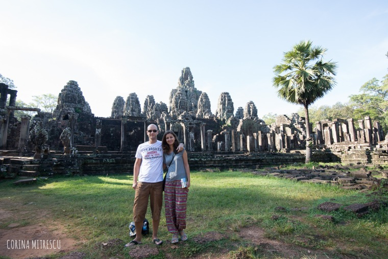 in front of bayon temple