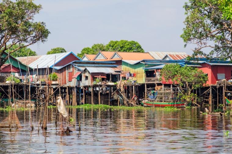 Kompong phluk floating village cambodia