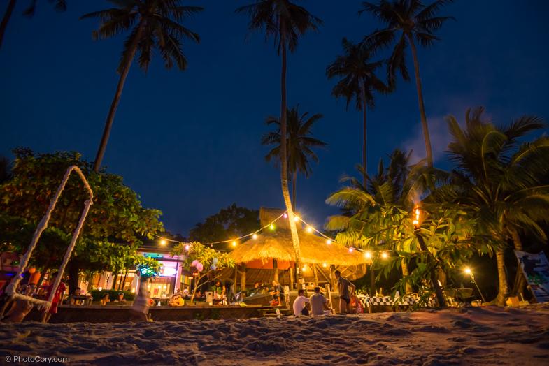 lonely beach night