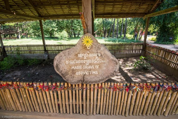 Mass grave at the killing fields / Una din groapile comune ale victimelor de la Campurile de Ucidere