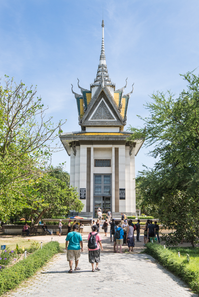 The Memorial Stupa at the Killing Fields, erected in 1988