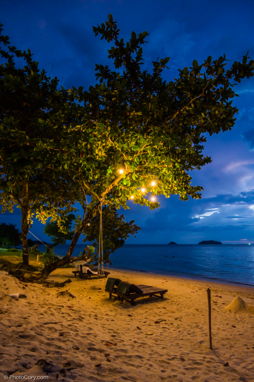 night beach thailand