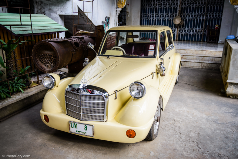 old car WWII museum kanchanaburi