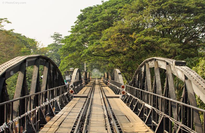 on bridge on the kwai river