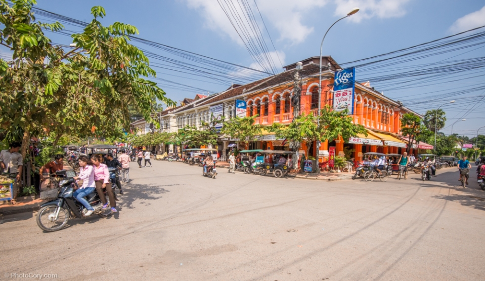 Street in Siem Reap / strada in Siem Reap