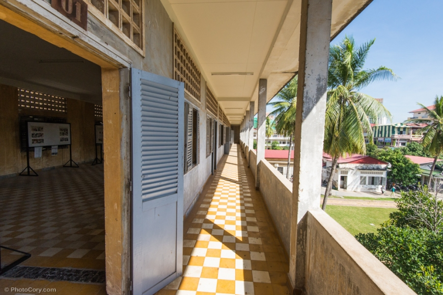 The corridor of this ex-school