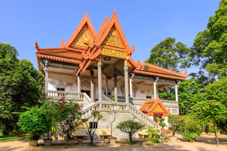 Wat Bo temple in Siem Reap / Templul (manastirea) Wat Bo in Siem Reap