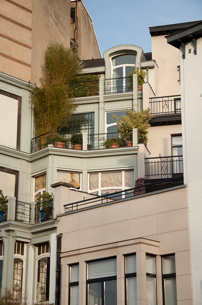 brussels architecture layered houses
