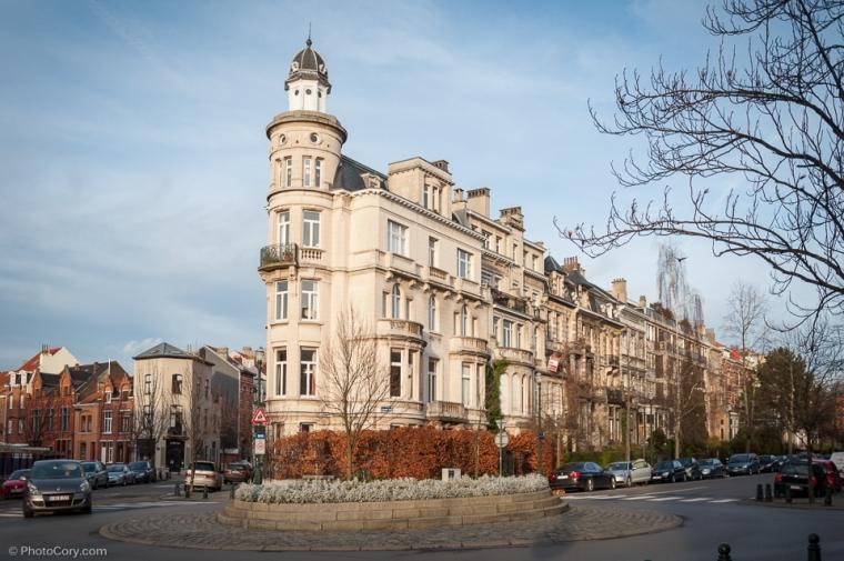 corner building. belgium