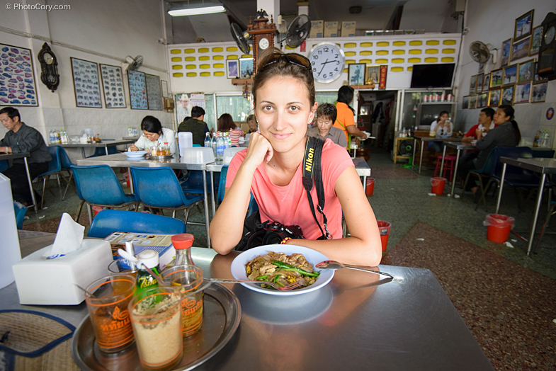 eating at local restaurant chiang mai