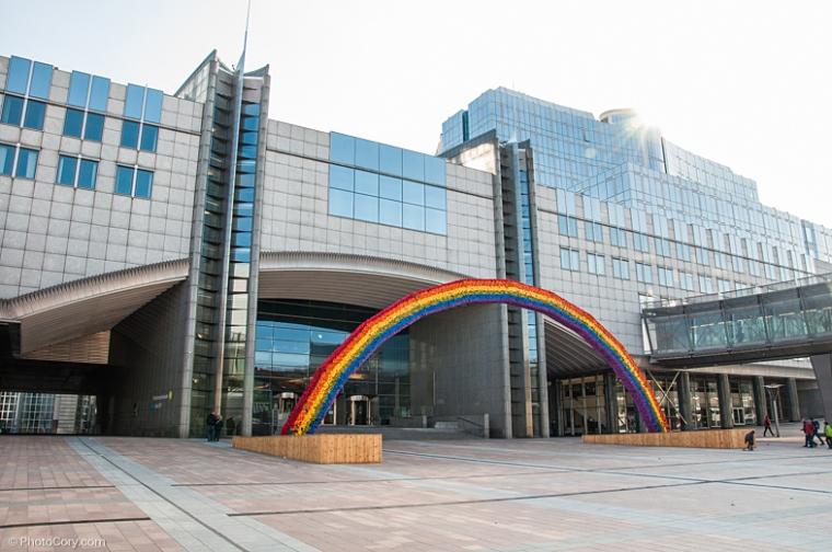 European Parliament rainbow