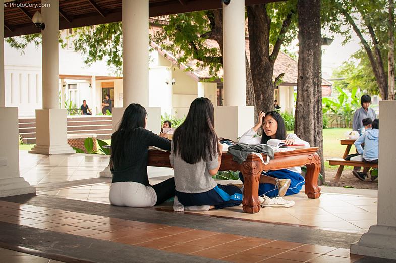 girls studying chiang mai